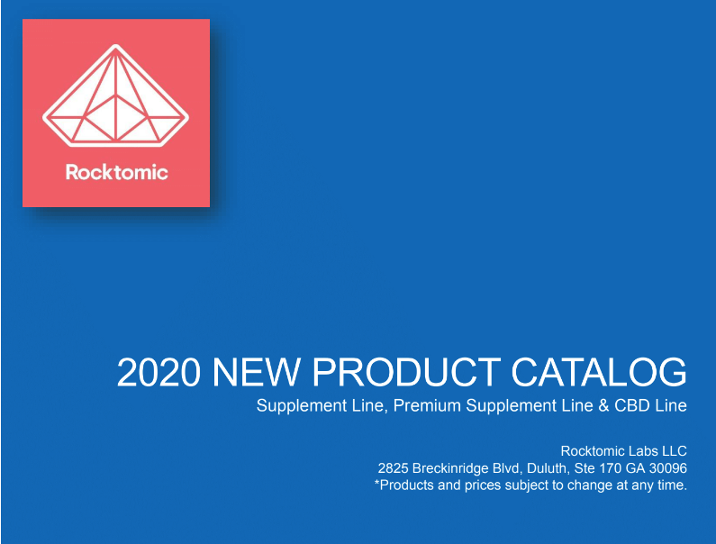 rocktomic 2020 private label supplement catalog